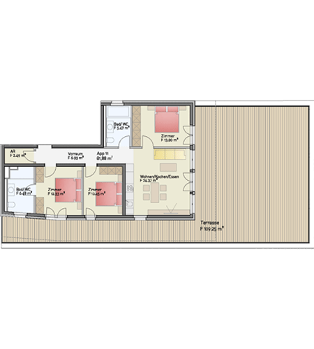 Penthouse Zimmerplan